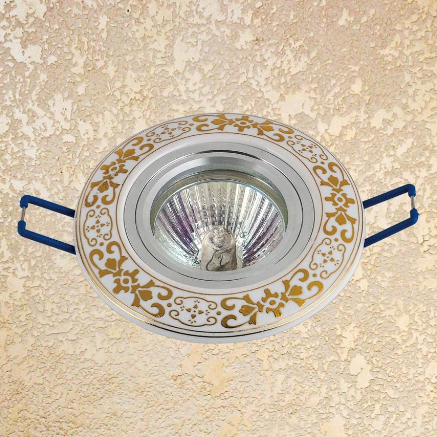 Точечный врезной светильник 70594 GD