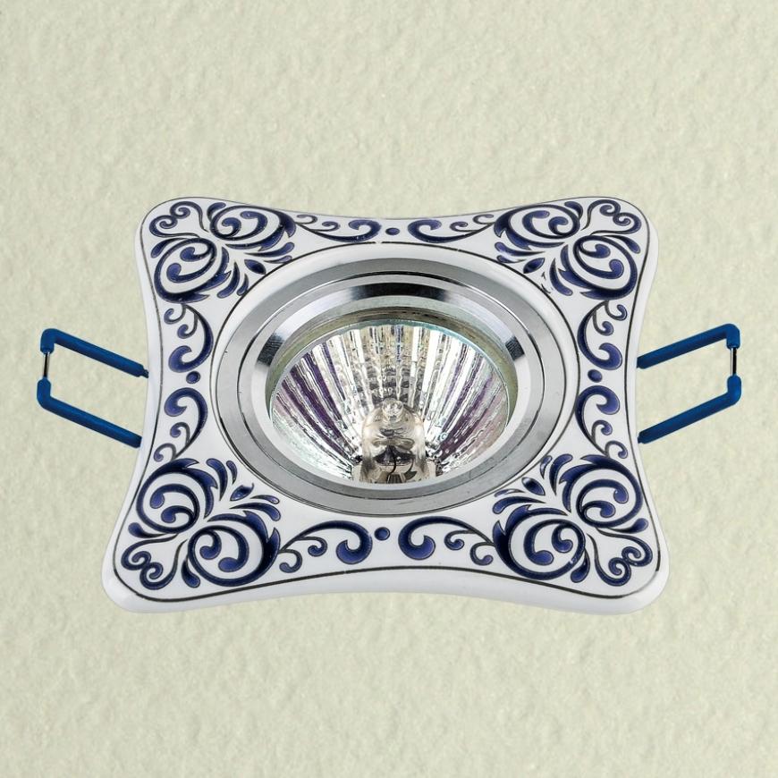 Точечный врезной светильник 70595 BLUE