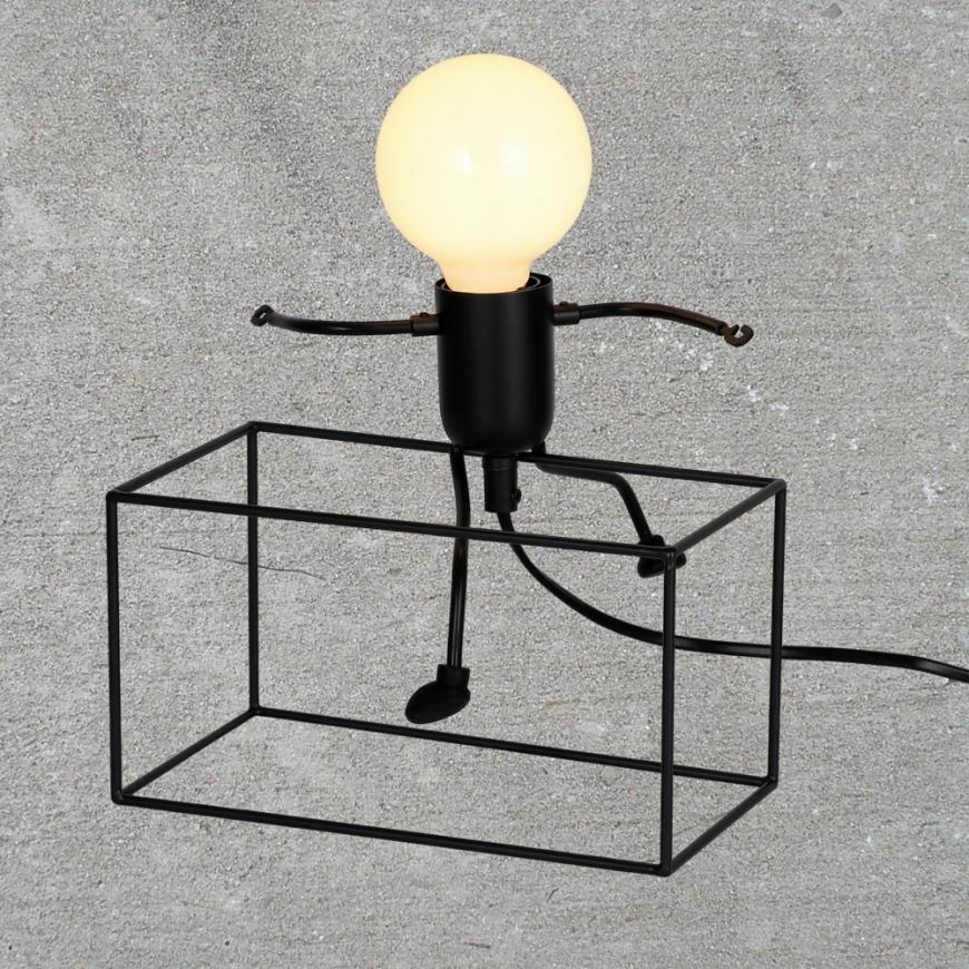 Настольная лампа в стиле лофт 720T26016-L20 BK