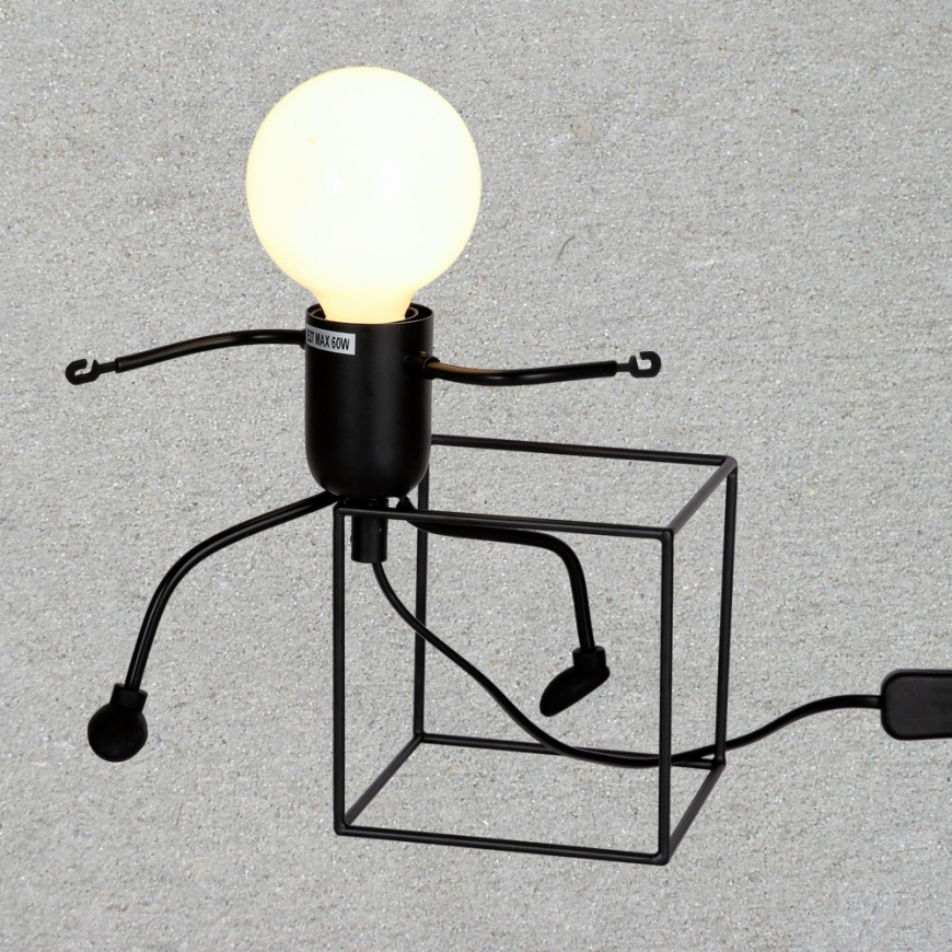 Настольная лампа в стиле лофт 720T26016-W12 BK