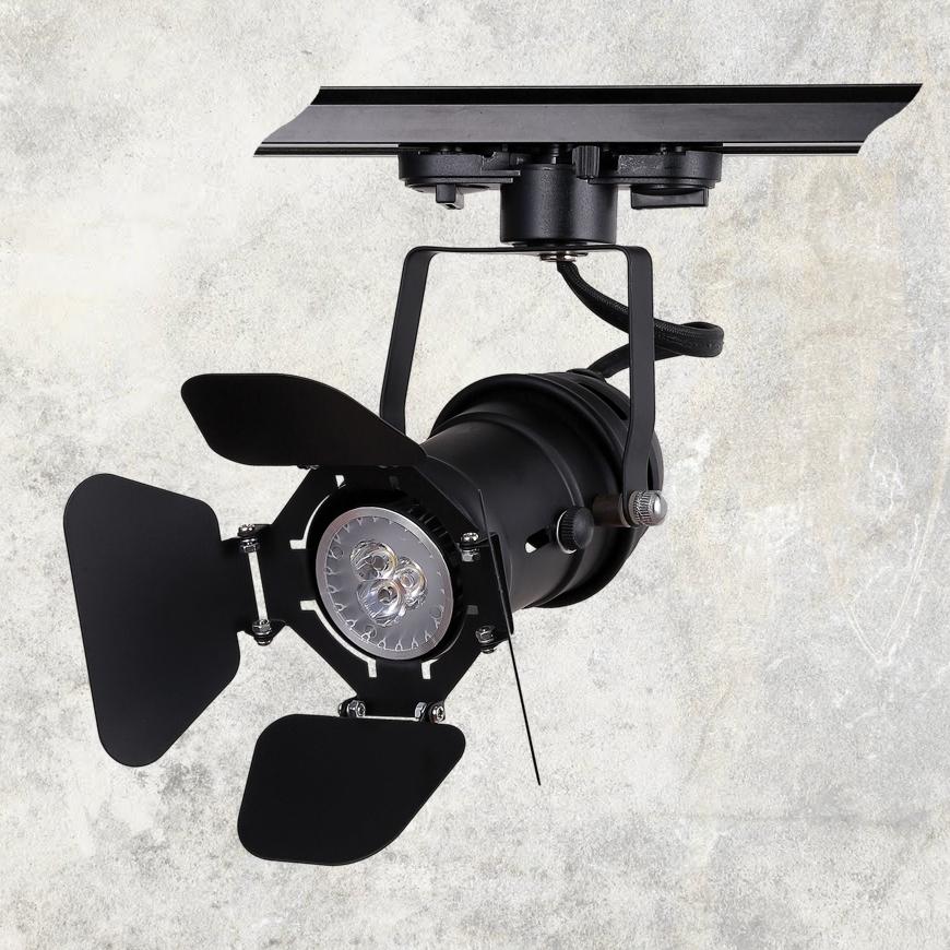 Прожектор на треке в стиле лофт 75229 BK (трек)