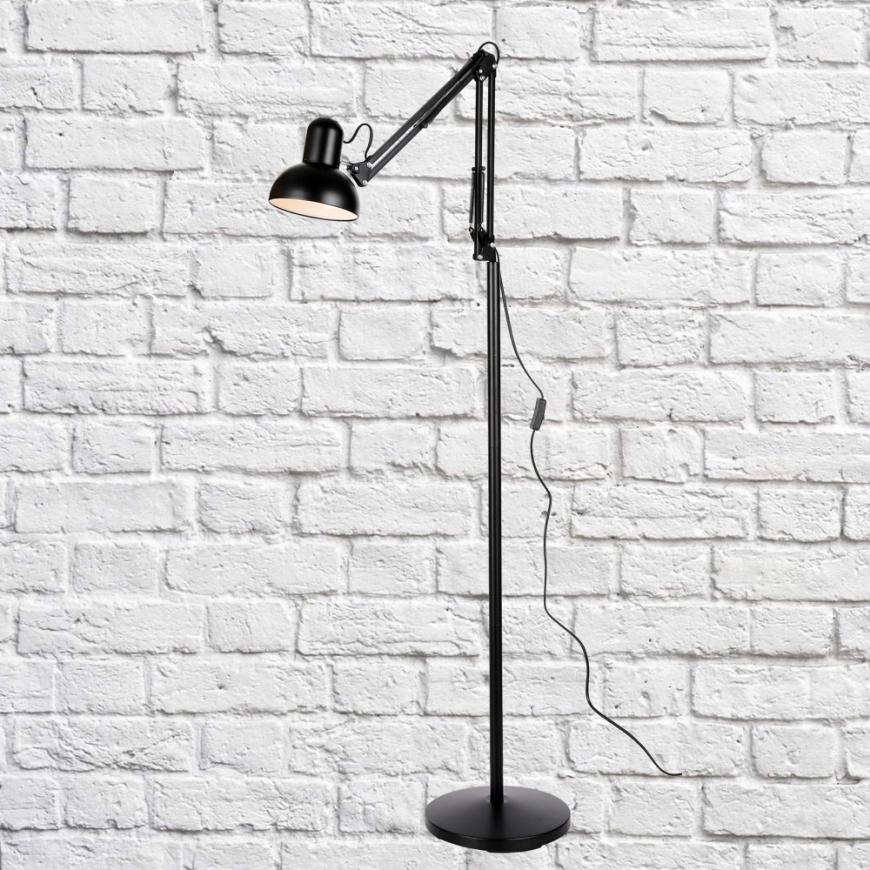 Напольный светильник в стиле лофт 756PR5523-1 BK