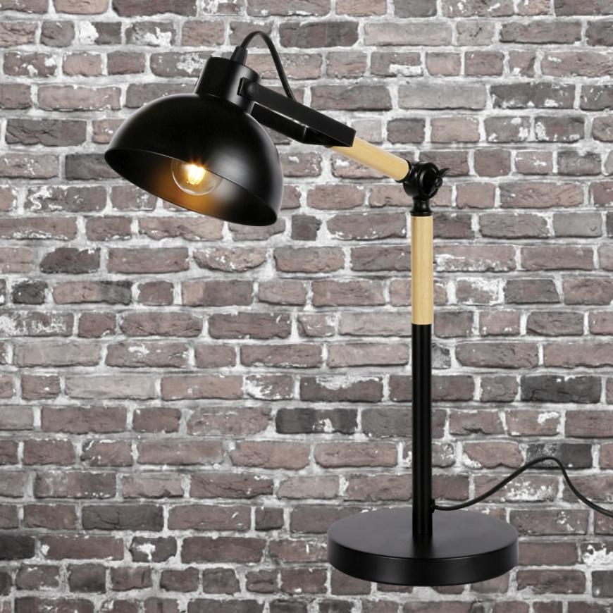 Настольный светильник в стиле лофт 756PR5524-1 BK