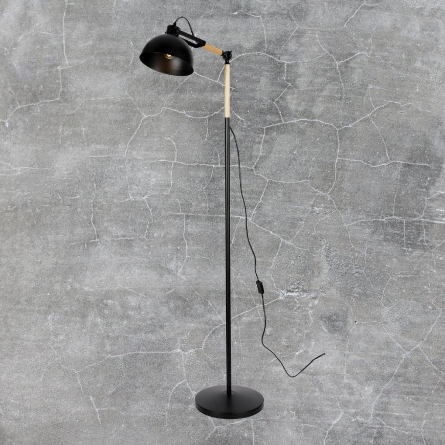 Напольный светильник в стиле лофт 756PR5525-1 BK