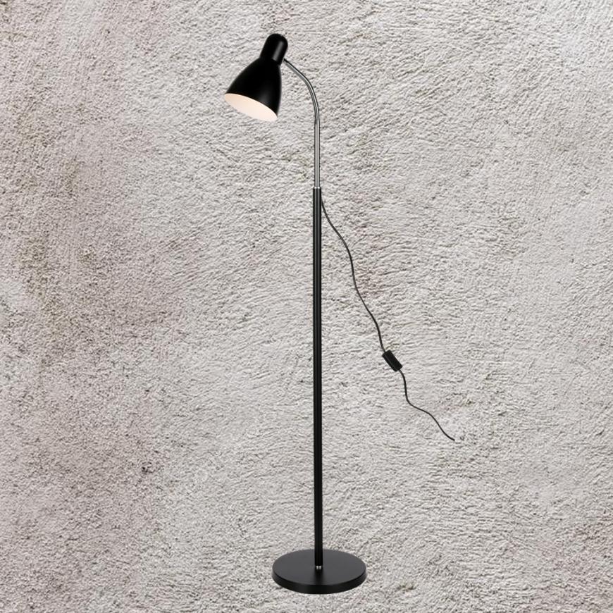 Напольный светильник в стиле лофт 756PR5530-1 BK