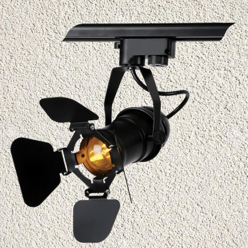 Прожектор на треке в стиле лофт 761GD01-1 BK