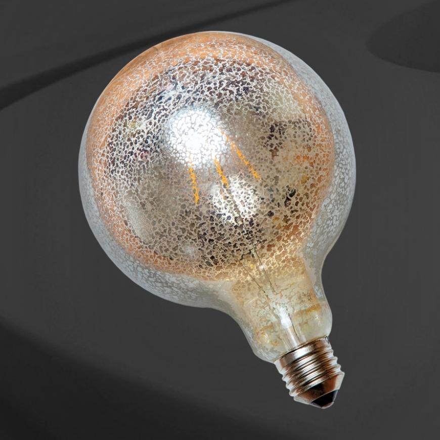 Лампа LED с сапфировой нитью G125 Flash silver 6W